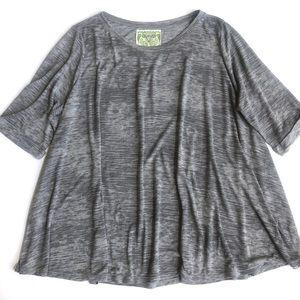 Nation LTD oversized burnout tee shirt